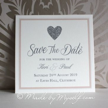 Simple Glitter Save The Date